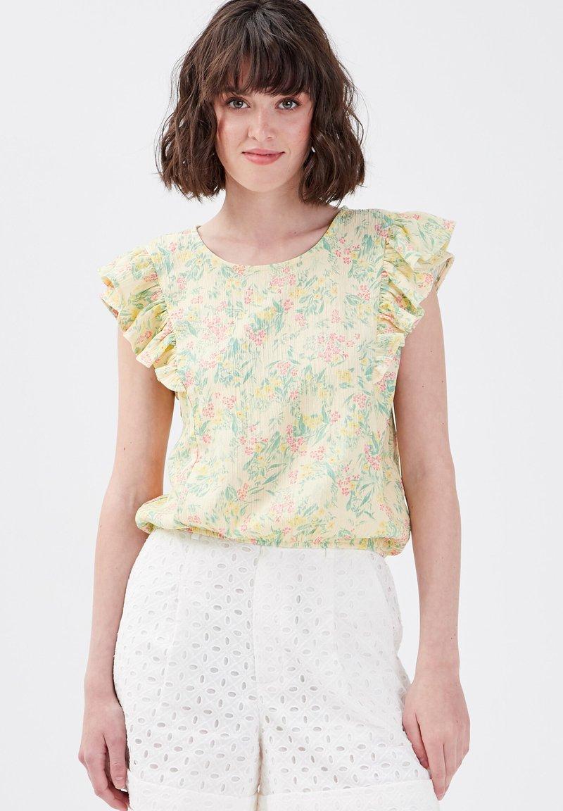 Cache Cache - Camiseta estampada - jaune pastel