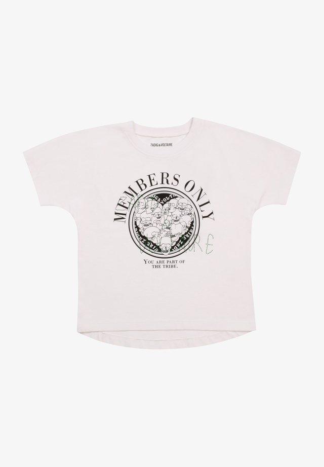 SHORT SLEEVES  - T-shirt print - blanc
