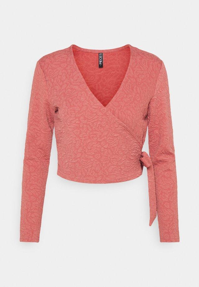 PCGRACELIA WRAP - Maglietta a manica lunga - canyon rose