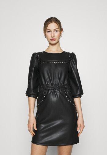 NMHILL SLEEVE STUD DRESS - Day dress - black