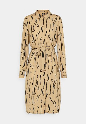 VMELITA  - Shirt dress - tigers eye/black