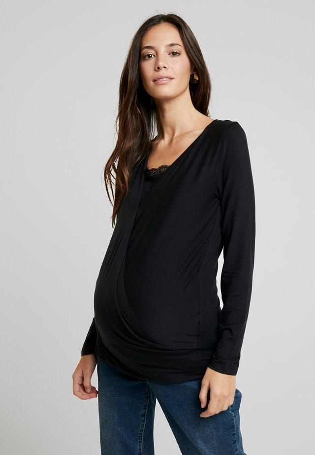 MLSHANA TESS - T-shirt à manches longues - black