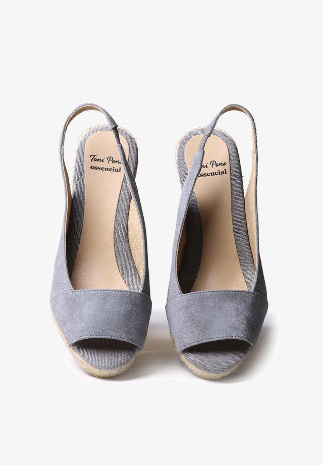 MONZA-A - Wedge sandals - grey