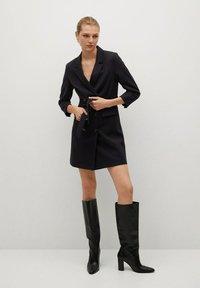Mango - BLAKE1 - Vestido camisero - black - 1