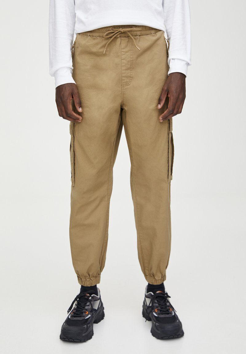 PULL&BEAR - Pantaloni cargo - brown