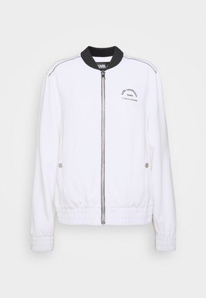 CADY LOGO TAPE - Bomber Jacket - white