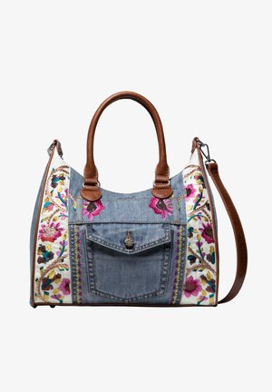 FLOWERS - Handbag - blue