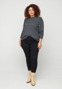 Zizzi - Long sleeved top - dark grey - 0