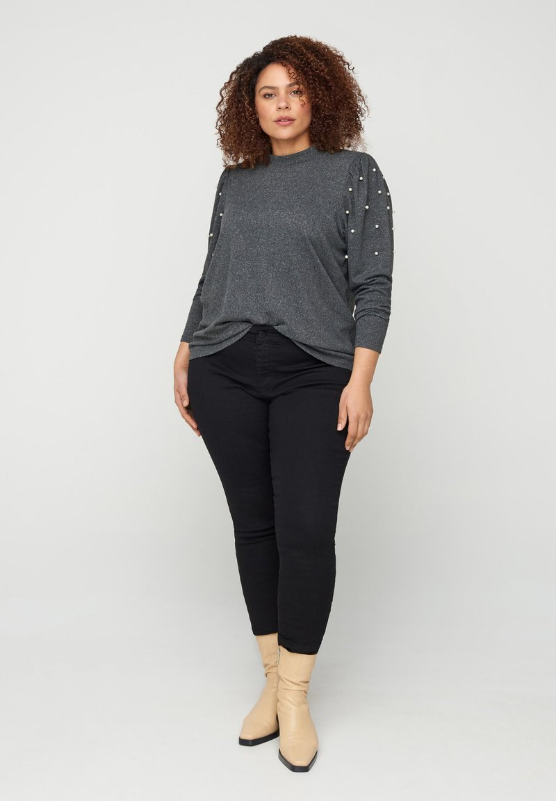 Zizzi - Long sleeved top - dark grey