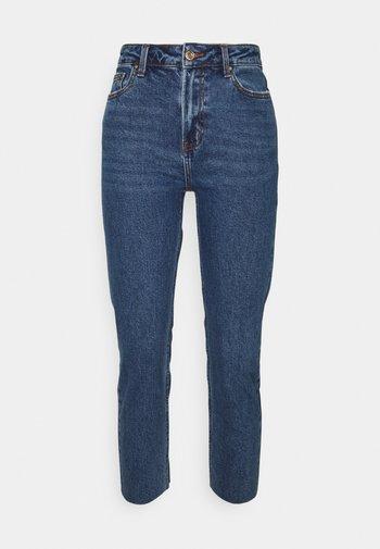 ONLEMILY RAW - Jeans straight leg - dark blue denim