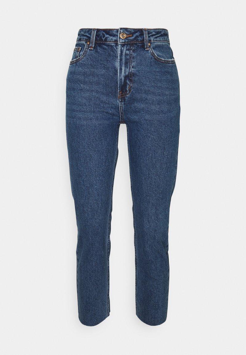 ONLY Petite - ONLEMILY RAW - Straight leg jeans - dark blue denim
