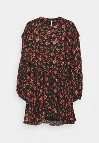 FLOWER FIELDS MINI - Denní šaty - dark combo