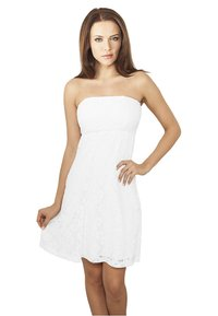 Urban Classics - DRESS - Cocktail dress / Party dress - white - 0