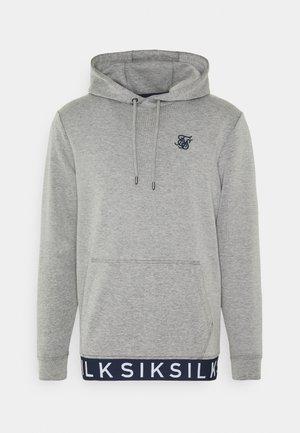 ELASTIC JACQUARD OVERHEAD HOODIE - Bluza - grey