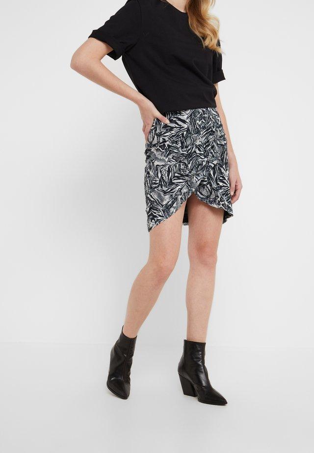 CUMAIL - Mini skirt - black/white