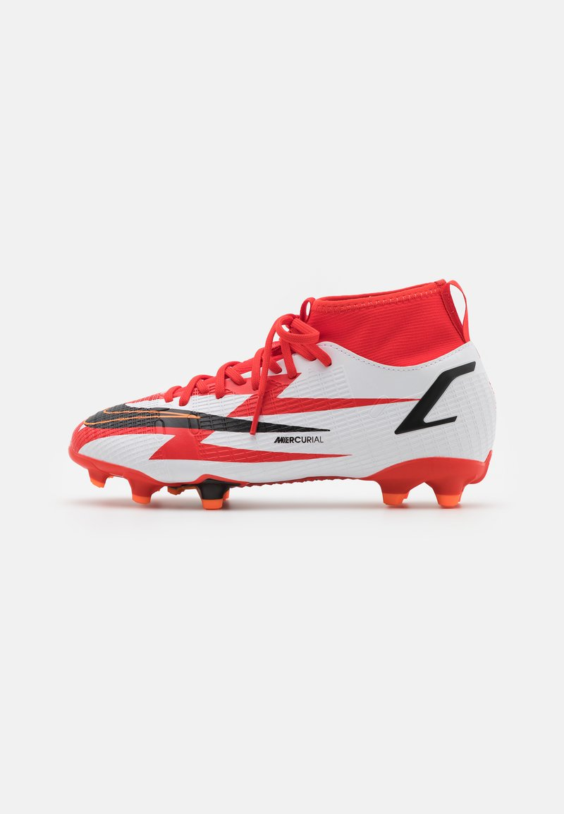 Nike Performance - MERCURIAL 8 ACADEMY CR7 FG/MG UNISEX - Moulded stud football boots - chile red/black/white/total orange