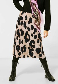 Street One - ROCK MIT MUSTER - A-line skirt - beige - 1