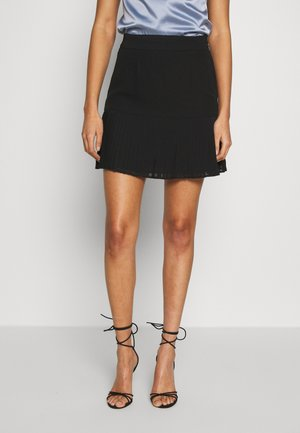 PLEATED BOTTOM SKIRT - A-line skjørt - black