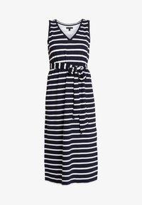 Banana Republic - V NECK TIE WAIST DRESS STRIPE - Jersey dress - navy - 5