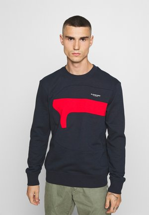 HAMBURGER LOGO R SW  - Sweater - indigo
