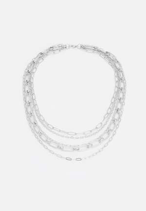 LAYERED MIXED CHAINS UNISEX - Necklace - silver-coloured