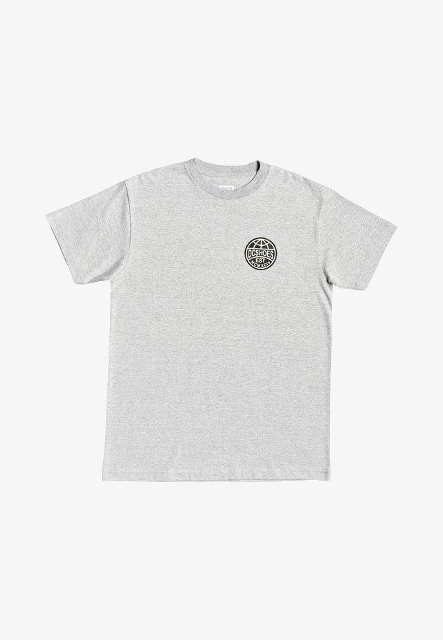 AROUND THE GLOBE EDYZT - Print T-shirt - heather grey