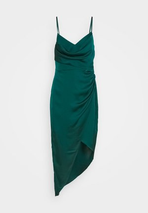 KAHLIA ASYMMETRIC COWL NECK DRESS - Cocktail dress / Party dress - dark green
