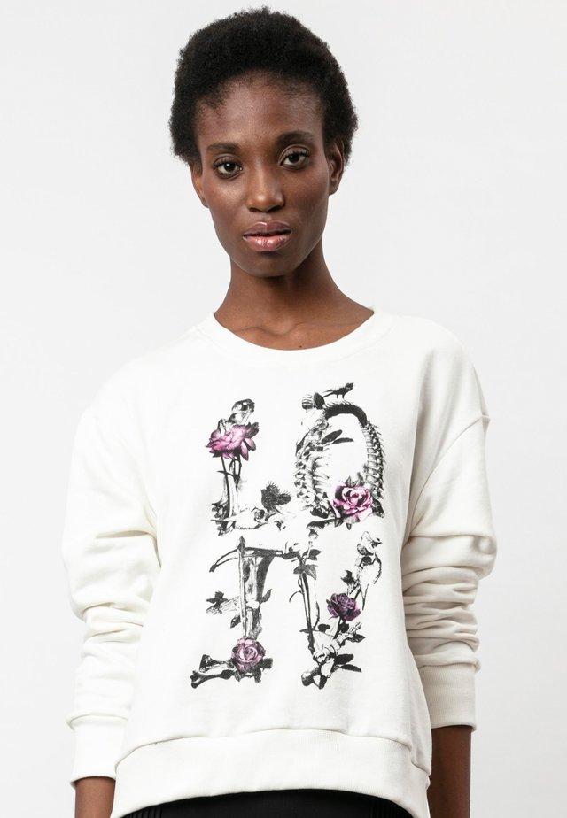 INCONCEIVABLE  - Sweatshirt - love white