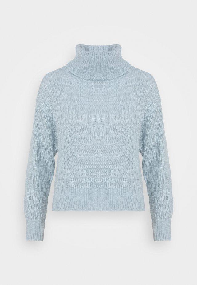 Roll neck- wool blend - Jumper - light blue