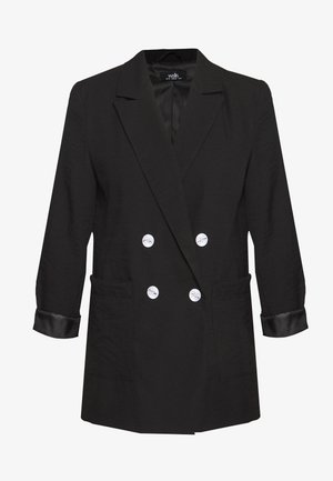 PATCH POCKET - Manteau court - black