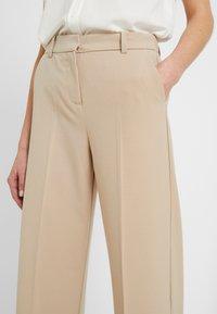 b.young - BYDANTA WIDE LEG PANTS - Trousers - beige - 5