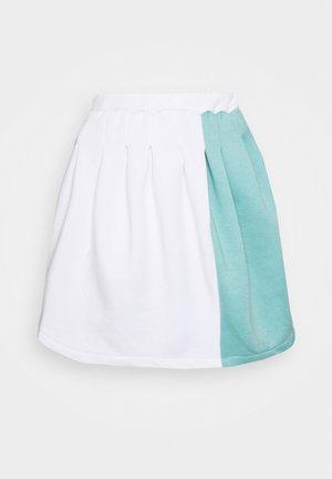 SPLICED PLEATED SKIRT - Mini skirt - white