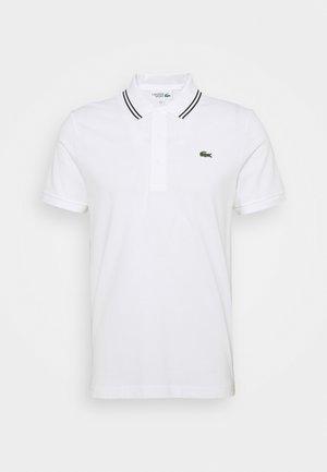 DETAILED COLLAR - Polo shirt - white/black