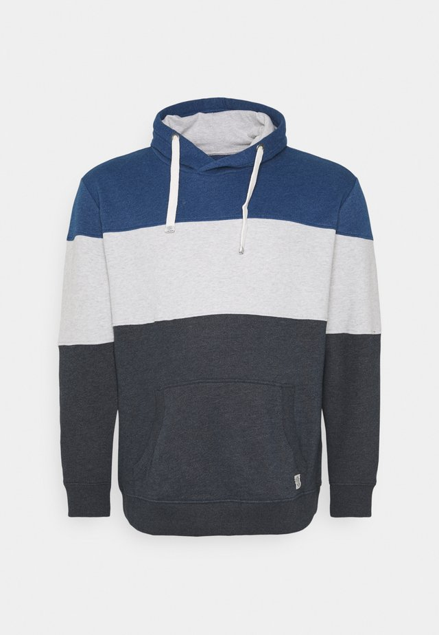 CUTLINE HOODIE WITH COLORBLOCK - Hoodie - sky captain blue
