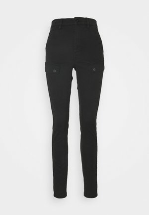 BLOSSITE ARMY ULTRA HIGH SKINNY WMN - Trousers - dk black gd
