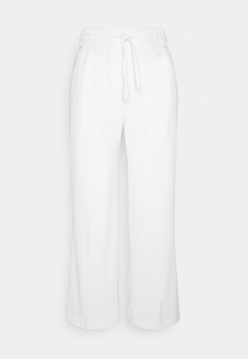 b.young - BYDANTA CROP - Spodnie materiałowe - off white