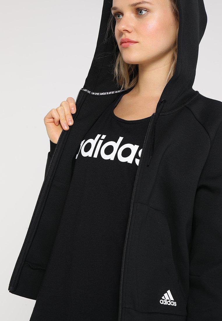 Huge Surprise Women's Clothing adidas Performance HOODIE Zip-up hoodie black kRX1uhkXb