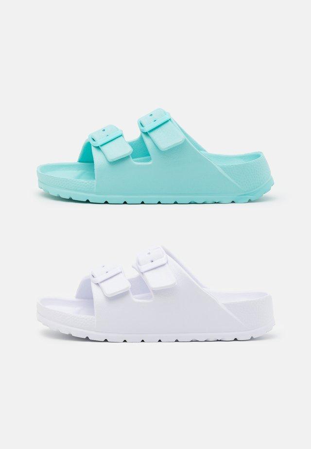 TWIN STRAP UNISEX 2 PACK - Pantofle - dream blue/matte white