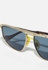 Gucci - Solglasögon - gold-coloured/gold-coloured/blue - 5