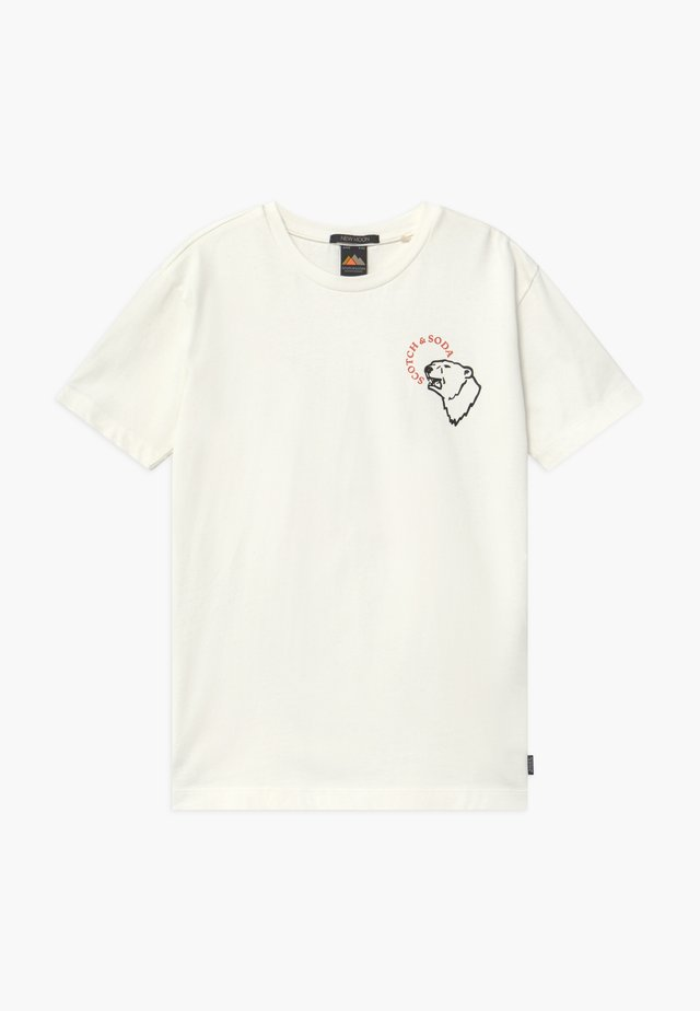 SHORT SLEEVE TEE WITH ARTWORKS - T-shirt imprimé - off white