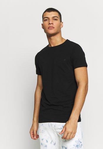 CREW TEE 3 PACK - T-shirt - bas - black/ grey melange/ bordeaux melange