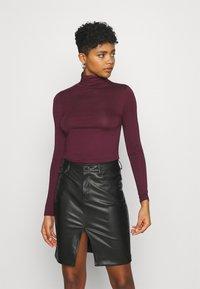 New Look - ROLL NECK - Long sleeved top - dark burgundy - 2