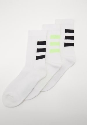 3 STRIPES ESSENTIALS SPORTS CREW SOCKS 3 PACK - Chaussettes de sport - white/white/white/sig