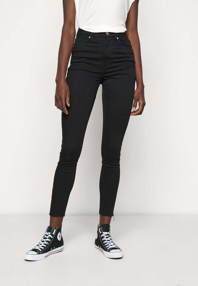 HIGH WAIST RAW  - Skinny-Farkut - black