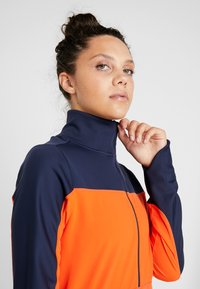 Nike Performance - REPEL TOP MIDLAYER - Bluza z polaru - obsidian/team orange/reflective silver - 3