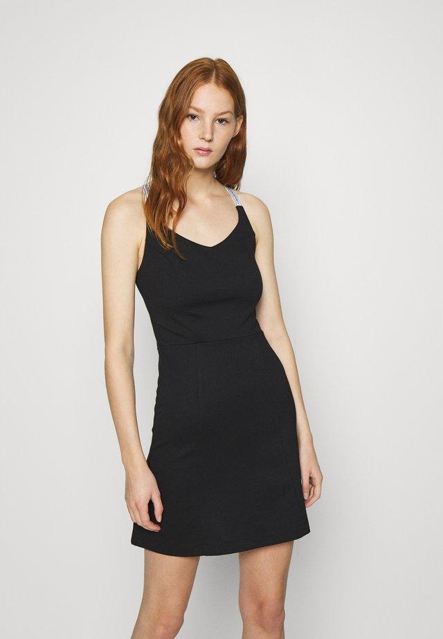 LOGO STRAPS MILANO DRESS - Jersey dress - black