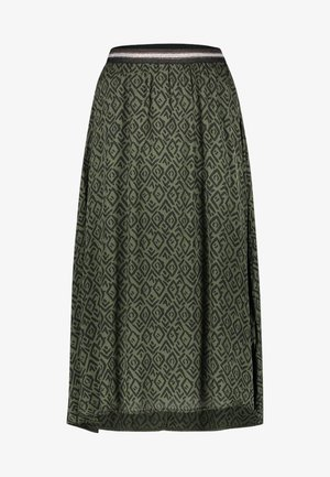 MELILA GRAPHIC VIS 520 - A-line skirt - army green