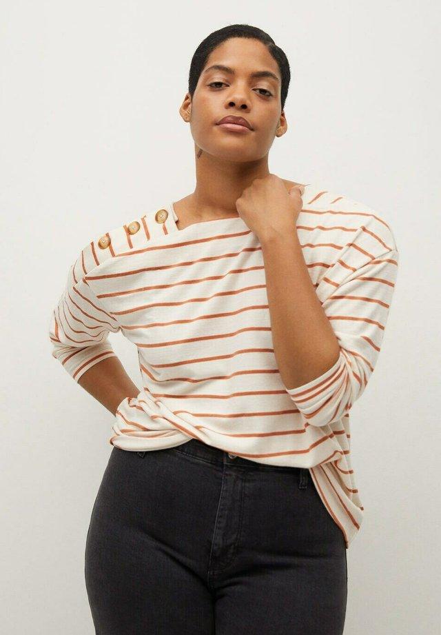 TERRA - T-shirt à manches longues - cremeweiß