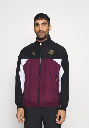 PARIS ST GERMAIN ANTHEM JACKET - Klubbkläder - black/bordeaux/white