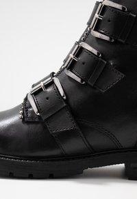 Steven New York - XOFIR - Cowboy-/Bikerlaarsjes - black - 2